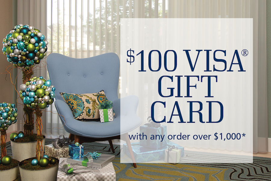 $100 Visa Gift Card with any order over $1,000*